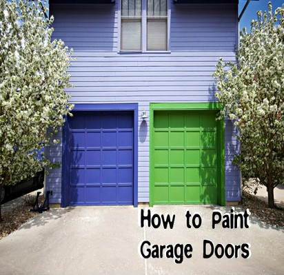 how to paint garage doors